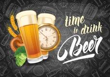 Tempo di bere birra Fotografia Stock Libera da Diritti