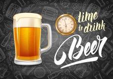 Tempo di bere birra Immagine Stock Libera da Diritti
