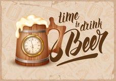 Tempo di bere birra Immagini Stock Libere da Diritti