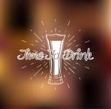 Tempo di bere Vetro di birra Illustrazione di vettore Royalty Illustrazione gratis
