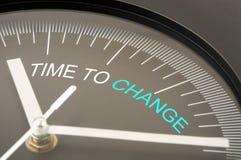 Tempo di cambiare Immagine Stock