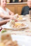 Tempo di cena per la famiglia! Fotografie Stock