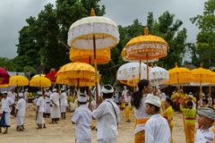Tempo di cerimonia in Bali Fotografia Stock Libera da Diritti