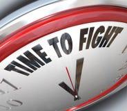Tempo di combattere combattimento di resistenza dell'orologio per i diritti Immagini Stock