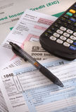 Tempo di compilare i moduli di imposta Immagine Stock Libera da Diritti