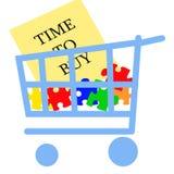 Tempo di comprare illustrazione vettoriale
