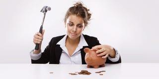 Tempo di crisi finanziaria Fotografia Stock Libera da Diritti