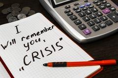 In tempo di finanza di controllo speciale di bisogno di crisi Immagini Stock Libere da Diritti