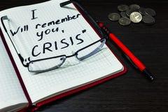 In tempo di finanza di controllo speciale di bisogno di crisi Immagine Stock Libera da Diritti