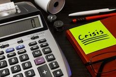 In tempo di finanza di controllo speciale di bisogno di crisi Fotografia Stock