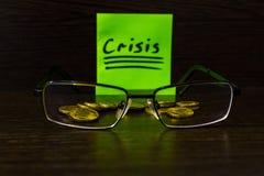 In tempo di finanza di controllo speciale di bisogno di crisi Fotografie Stock