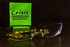 In tempo di finanza di controllo speciale di bisogno di crisi Immagini Stock