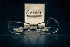 In tempo di finanza di controllo speciale di bisogno di crisi Fotografia Stock Libera da Diritti