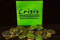 In tempo di finanza di controllo speciale di bisogno di crisi Fotografie Stock Libere da Diritti