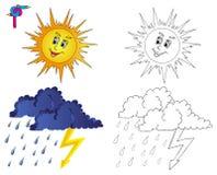 Tempo 3 di immagine di coloritura Illustrazione di Stock