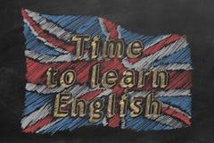 Tempo di imparare inglese royalty illustrazione gratis