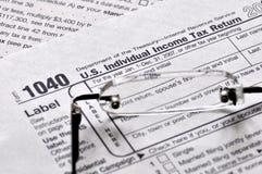 Tempo di imposta sul reddito Fotografia Stock Libera da Diritti