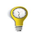 Tempo di Infographic e giallo-chiaro bianco Illustrazione di Stock