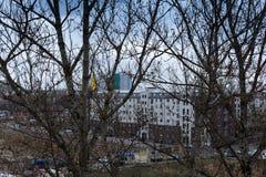 Tempo di inverno dell'annuvolamento a Berlino fotografie stock libere da diritti