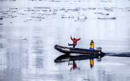 Tempo di manifestazione dell'Antartide nello zodiaco Immagini Stock Libere da Diritti