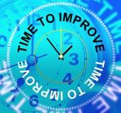 Tempo di migliorare piano e crescita di miglioramento di mezzi Immagine Stock