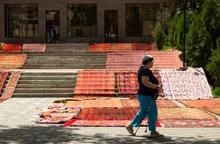 Tempo di molla in anticipo, Almaty Arbat Immagine Stock Libera da Diritti