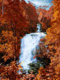 Tempo di molla incredibile della cascata Fotografia Stock Libera da Diritti