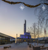 Tempo di natale della cattedrale della luce nordica Immagini Stock Libere da Diritti