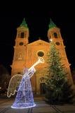 Tempo di natale a Praga Fotografia Stock Libera da Diritti