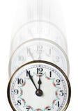 Tempo di orologio che si sbiadice via Fotografia Stock