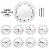 Tempo di orologio su ordinazione del mondo - EDIZIONE EDITABLE di VETTORE Fotografie Stock