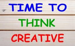 Tempo di pensare creativo immagine stock