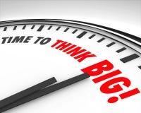 Tempo di pensare grande 'brainstorming' dell'innovazione di creatività dell'orologio Fotografia Stock