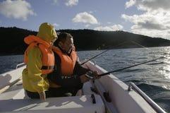 Tempo di pesca della famiglia Fotografie Stock