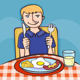 Tempo di prima colazione Fotografia Stock Libera da Diritti
