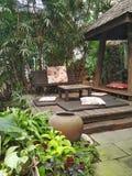 tempo di rilassarsi in un giardino Immagine Stock