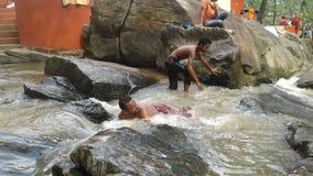 Tempo di rinfresco in Jharna naturale fotografia stock libera da diritti