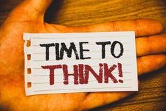 Tempo di scrittura del testo della scrittura di pensare chiamata motivazionale Le idee di pensiero di pianificazione di significa illustrazione di stock