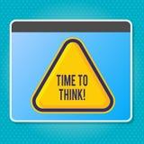 Tempo di scrittura del testo della scrittura di pensare Idee di pensiero di pianificazione di significato di concetto che rispond illustrazione di stock