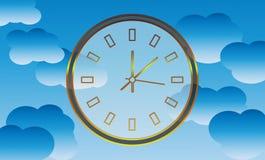 Tempo di spazio (orologio nel cielo) Fotografie Stock