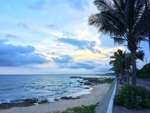 Tempo di tramonto in Mui Ne, Vietnam Fotografia Stock