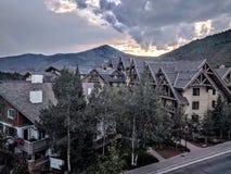 Tempo di tramonto in Vail Colorado Fotografie Stock Libere da Diritti