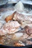 Tempo di uccisione del maiale Immagine Stock