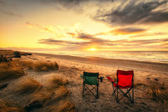 Tempo di vacanza alla spiaggia di Haast nell'isola del sud della Nuova Zelanda Fotografia Stock Libera da Diritti