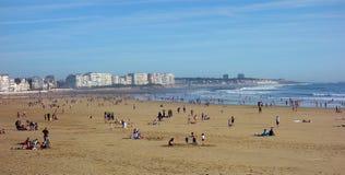 Tempo di vacanza atlantico francese della spiaggia Fotografia Stock Libera da Diritti