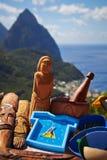 Tempo di viaggiare nello St Lucia Fotografia Stock Libera da Diritti