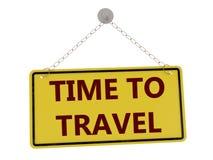Tempo di viaggiare segno illustrazione vettoriale