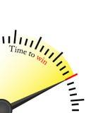 Tempo di vincere - orologio Fotografie Stock