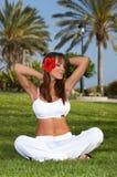 Tempo di yoga Immagine Stock
