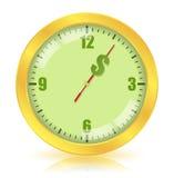 Tempo é dinheiro conceito Imagens de Stock